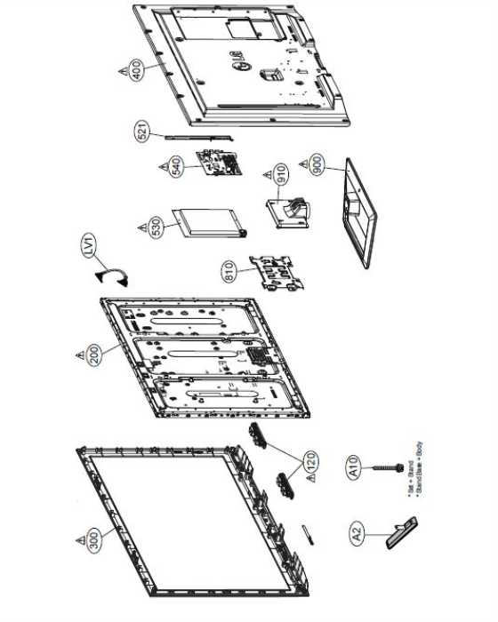 Second Additional product image for - LG 60PB6600 UA Service Manual and Technicians Guide