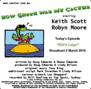CACTUS 2 Mar 2016: 'Bill's Legs'   Other Files   Everything Else