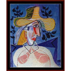 portrait of a young girl, 1938 - picasso cross stitch pattern by cross stitch collectibles