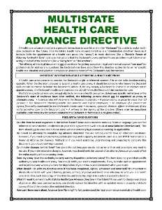 MULTISTATE Health Care Advance Directive | Documents and Forms | Legal