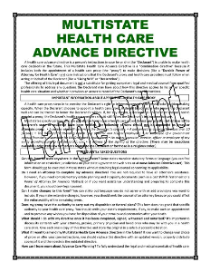 LARGE PRINT - MULTISTATE Health Care Advance Directive | Documents and Forms | Legal