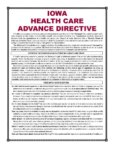 iowa health care advance directive