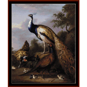 Peacock - Tobias Stranover cross stitch pattern by Cross Stitch Collectibles | Crafting | Cross-Stitch | Wall Hangings