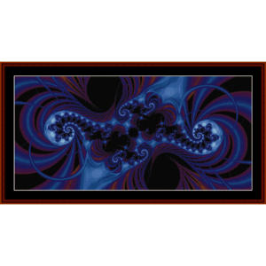 Fractal 44 cross stitch pattern by Cross Stitch Collectibles | Crafting | Cross-Stitch | Wall Hangings