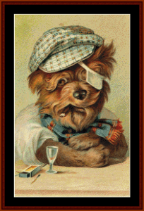 After a Hard Day - Vintage Dog cross stitch pattern by Cross Stitch Collectibles | Crafting | Cross-Stitch | Other