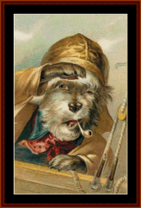 Ahoy - Vintage Dog cross stitch pattern by Cross Stitch Collectibles | Crafting | Cross-Stitch | Animals