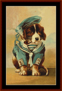 Little Sailor - Vintage Dog cross stitch pattern by Cross Stitch Collectibles | Crafting | Cross-Stitch | Animals