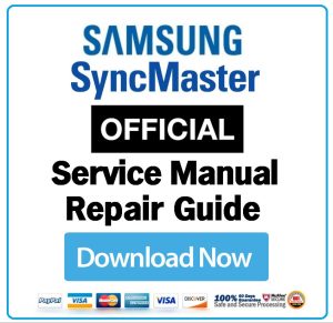 First Additional product image for - Samsung SyncMaster 2433LW Service Manual and Technicians Guide