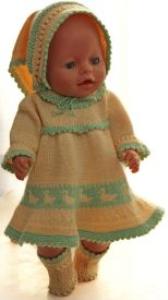 DollKnittingPatterns 0145D SOPHIA (Mars) - Jakke, Kjole, Lue, Strømpebukse og SkKjole, Bukse, Sokker og Skaut-(Norsk) | Crafting | Knitting | Other