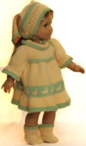 dollknittingpattern 0145d sophia (march)-dress, pants, socks and headscarf -(english)
