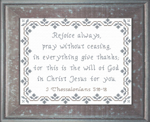 Rejoice Always | Crafting | Cross-Stitch | Religious