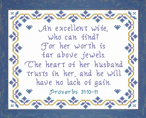 An Excellent Wife | Crafting | Cross-Stitch | Religious
