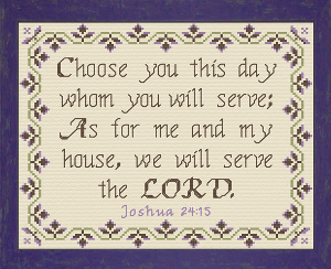 We Will Serve The Lord | Crafting | Cross-Stitch | Religious