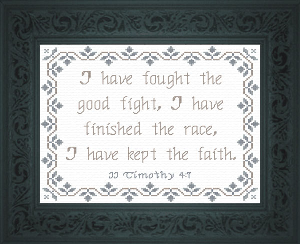 I Have Kept The Faith | Crafting | Cross-Stitch | Religious