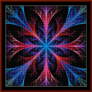 Fractal 550 cross stitch pattern by Cross Stitch Collectibles | Crafting | Cross-Stitch | Wall Hangings