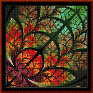fractal 552 cross stitch pattern by cross stitch collectibles