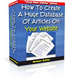 How To Create A Huge Database Of Articles On Your Website | Software | Developer