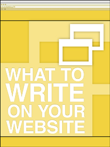 What To Write On Your Website Special Report | eBooks | Business and Money