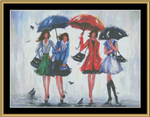 four rain girls