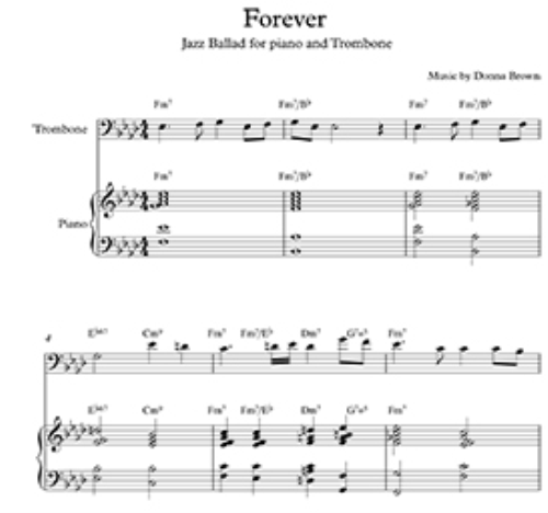First Additional product image for - Forever-Jazz Ballad for Piano and Trombone