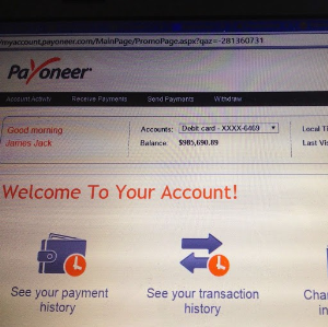 payoneer card loader v3 with live proof