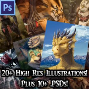 high res +psd art pack