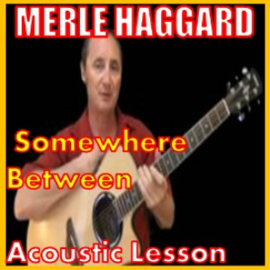 learn to play somewhere between by merle haggard