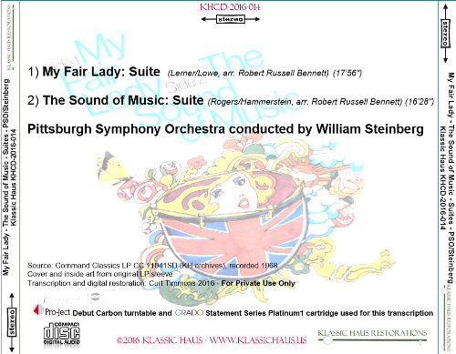 First Additional product image for - My Fair Lady/The Sound of Music - Symphonic Pictures - Pittsburgh Symphony Orchestra/William Steinberg