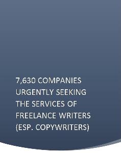 7,630 companies urgently seeking the services of freelance writers (esp. copywriters)