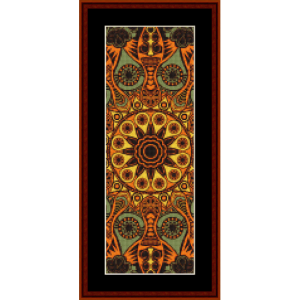 fractal 523 bookmark cross stitch pattern by cross stitch collectibles