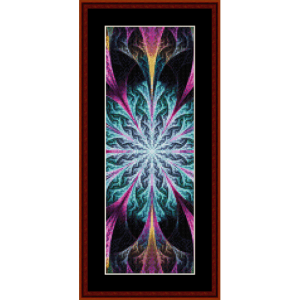 fractal 549 bookmark cross stitch pattern by cross stitch collectibles