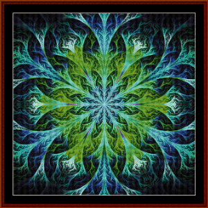 Fractal 555 cross stitch pattern by Cross Stitch Collectibles | Crafting | Cross-Stitch | Wall Hangings