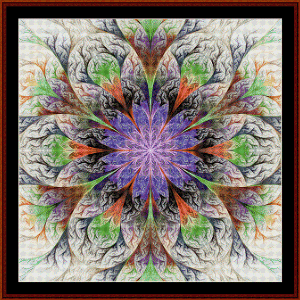 Fractal 556 cross stitch pattern by Cross Stitch Collectibles | Crafting | Cross-Stitch | Wall Hangings
