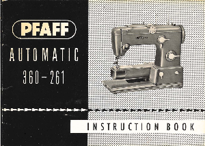 Pfaff 360-261 Sewing Machine Manual | Documents and Forms | Manuals