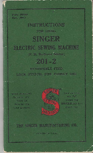 Singer Sewing Machine Manual 201-2 | Documents and Forms | Manuals