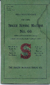Singer Sewing Machine Manual Model No 66 | Documents and Forms | Manuals