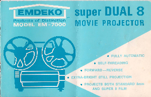 Emdeko Super DUAL 8 Movie Projector Model EM-7000 Instructions | Documents and Forms | Manuals