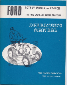 "Rotary Mower 42"" Ford Operator's Manual 