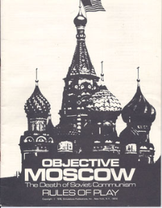Objective Moscow Instructions Manual 1978 SPI Games | Documents and Forms | Manuals