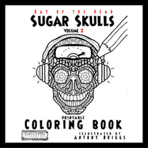day of the dead - coloring book - sugar skulls - book 2