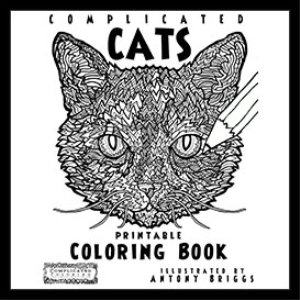 complicated cats - coloring book - printable pdf
