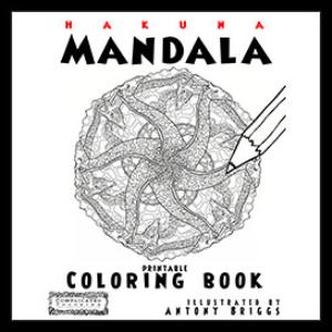 hakuna mandala - printable coloring book