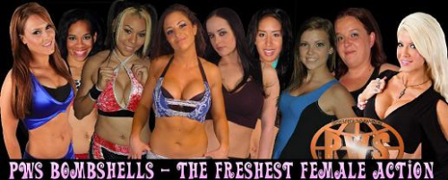 Third Additional product image for - 50+ Womens Wrestling Matches - PWS Bombshells - 9 shows!