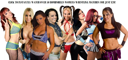 Fourth Additional product image for - 50+ Womens Wrestling Matches - PWS Bombshells - 9 shows!