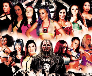 50+ womens wrestling matches - pws bombshells - 9 shows!