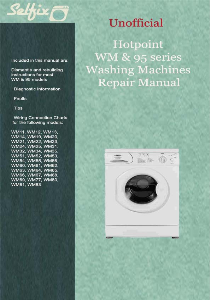service and repair manual for hotpoint wm/95 series washing machines