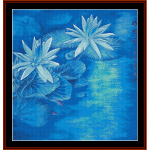 Waterlilies - Vintage Asian Art cross stitch pattern by Cross Stitch Collectibles | Crafting | Cross-Stitch | Wall Hangings
