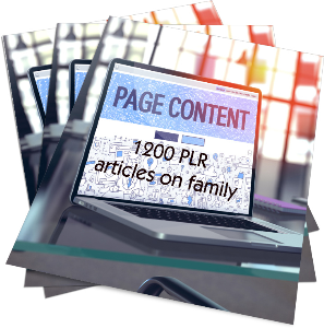 1200 plr articles on family