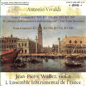 Vivaldi: The Four Seasons & Four Concerti for Strings - L'Ensemble Instrumental de France/Jean-Pierre Wallez | Music | Classical