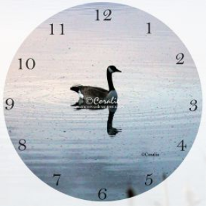 goose in the early morning light clock template